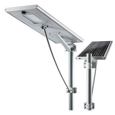 100W Integrated Solar LED Wall/Pole Light